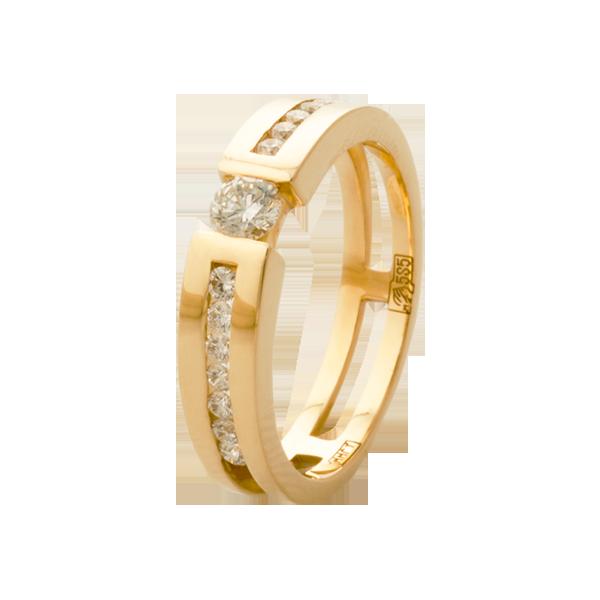 золотое кольцо с бриллиантами дорожка купить